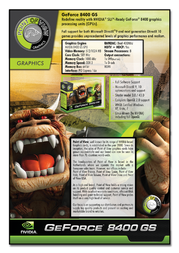 Point of View GeForce 8400 GS VGA-8400-A1-512-D3A Leaflet