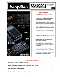 Korg EASYSTART AX3000G User Manual