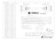 Sandberg SCSI Cable HPDB50M-HPDB50M 1 m 500-86 Leaflet