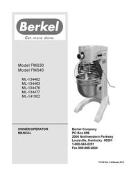 Berkel FMS40 User Manual