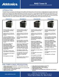 Addonics RAID Tower IV RTIV435SMR5 Leaflet