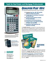 Calculated Industries Qualifier Plus IIIFX 3430 Leaflet