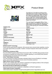 XFX GeForce FX 5200 128MB DDR PV-T34K-NTH7 Leaflet