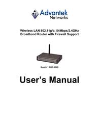 Advantek Networks AWR-854G User Manual