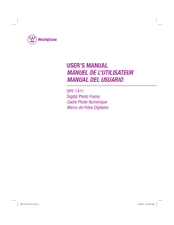 Westinghouse Digital Electronics DPF-1411 User Manual