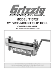 Grizzly T10727 User Manual