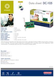 Sitecom ISDN PCI Card DC-105 Leaflet