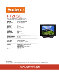 """Accuview 12.1"""" PT2RSE Leaflet"""