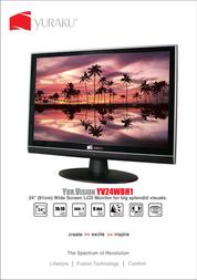 "Yuraku 24"" Wide LCD YV24WBH1 YV24WBH1 Leaflet"