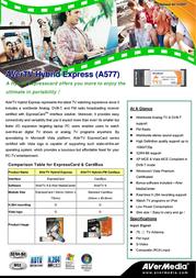 AVerMedia AVerTV Hybrid Express VGAV10709 Leaflet