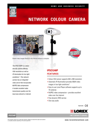 Lorex Network 6 LED Compact Day / Night Camera IPSC1240P Leaflet