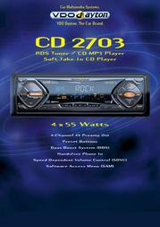 Dayton CD 2703 RDS Tuner / CD MP3 Player CD2703 Leaflet