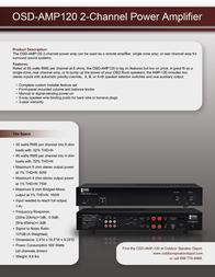 OSD Audio AMP120 Leaflet