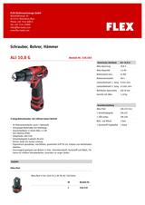 Flex ALi 10,8 G 338.583 Data Sheet