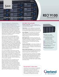 Overland Storage REO 9100 Hard Drive Array - 6TB - 12 x 500GB Serial ATA OV-REO101075 Leaflet