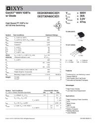 Ixys IXGH30N60C3D1 IGBT 600V IXGH30N60C3D1 Data Sheet
