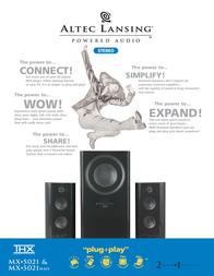 Altec Lansing MX5021 2.1 powered audio system white MX5021WHTE Leaflet