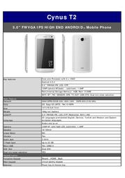 Mobistel T2 MT-9081W User Manual