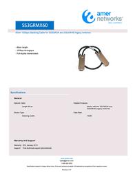 Amer Networks SS3GRMX60 SS3GR24I Leaflet