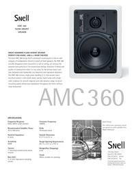 Snell Acoustics AMC 360 Leaflet