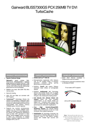 Gainward BP7300GS 256MB PCX TV-DVI 471846200-8033 Leaflet
