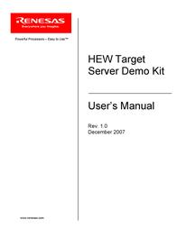 Renesas HEW Target User Manual