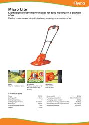 Flymo Micro LITE 5011759011181 Leaflet