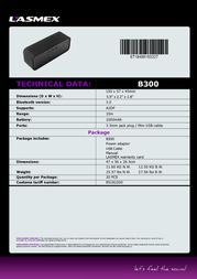 Lasmex Beatblocc B300 BEATBLOCC B300 Data Sheet