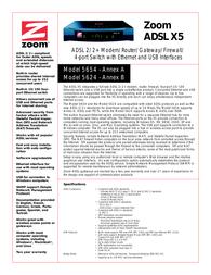 Zoom 5654 X5 5654-72-00F Leaflet