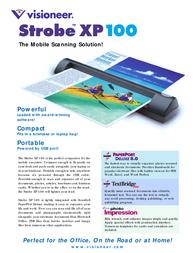 Visioneer Strobe XP 100 90-0493-700 Leaflet