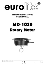 Eurolite MD-1030 Rotary motor w/o plug 50301200 Data Sheet