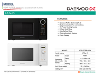 Daewoo KOR7L7EB Specification Guide