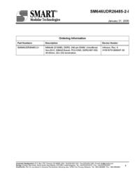 SMART Modular 512MB DDR2 SDRAM SM646UDR26485-2-I User Manual