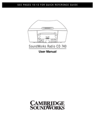 Cambridge SoundWorks 740 User Manual