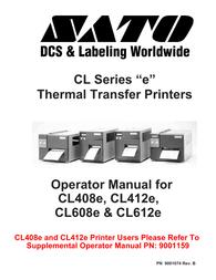 SATO CL408E User Manual