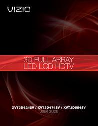 VIZIO XVT3D424SV User Manual