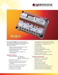Morningstar Solar charge controller 321132 Data Sheet