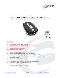 Adapt AD-350 Bluetooth GPS Receiver 8717568400266 Leaflet