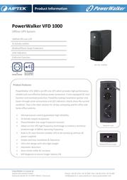Aiptek PowerWalker VFD 1000 310030 Leaflet