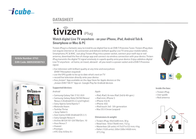 Tivizen  iCube iPlug 8809208580763 Data Sheet