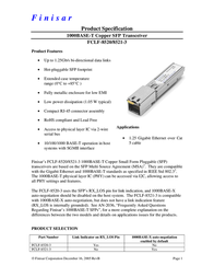 Finisar FCLF-8521-3 User Manual