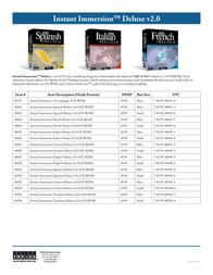 Topics Entertainment Instant Immersion Translator Deluxe v2.0 80706 Leaflet