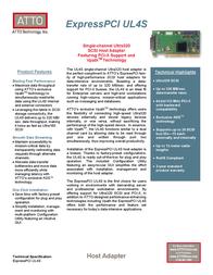 Atto ExpressPCI UL4S EPCI-UL4S-0R0 Leaflet