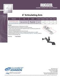 "Gamber-Johnson 6"" Articulating Arm 7160-0206 Leaflet"