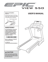 Epic VIEW 550 ECTL09706.1 User Manual
