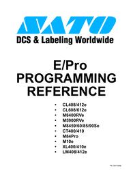SATO CL408E Reference Guide