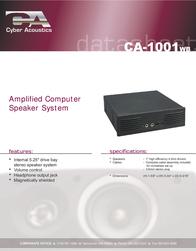 Cyber Acoustics CA-1001WB Data Sheet