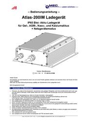 Mec Energietechnik 171-06153-570IM Lead Acid Battery Charger, For V Batteries 171-06153-570IM User Manual
