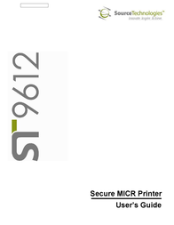 Source Technologies SECURE MICR PRINTER ST9612 User Manual