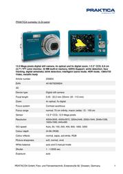 Praktica Luxmedia 12-Z4 256834 Leaflet